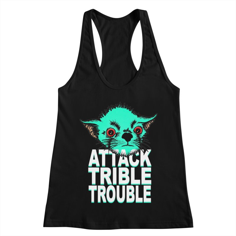 ATTACK TRIBLE TROUBLE Women's Racerback Tank by pesst's Artist Shop