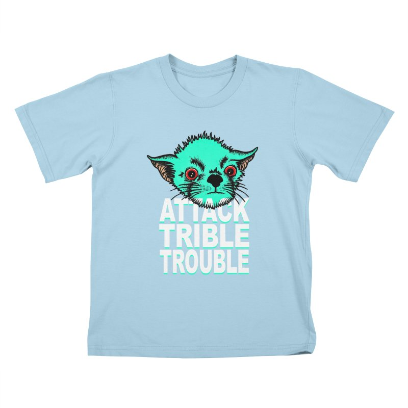 ATTACK TRIBLE TROUBLE Kids T-Shirt by pesst's Artist Shop