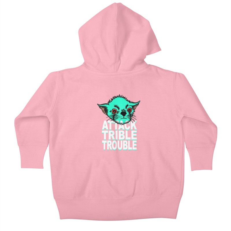 ATTACK TRIBLE TROUBLE Kids Baby Zip-Up Hoody by pesst's Artist Shop