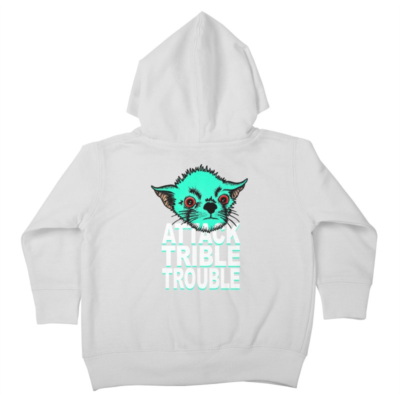 ATTACK TRIBLE TROUBLE Kids Toddler Zip-Up Hoody by pesst's Artist Shop