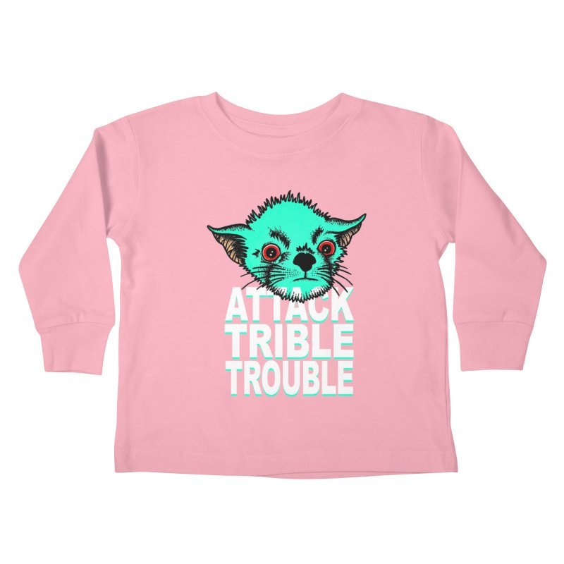 ATTACK TRIBLE TROUBLE Kids Toddler Longsleeve T-Shirt by pesst's Artist Shop