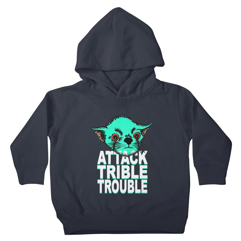 ATTACK TRIBLE TROUBLE Kids Toddler Pullover Hoody by pesst's Artist Shop