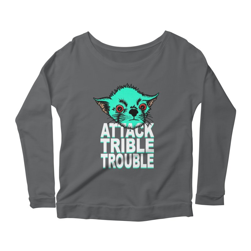 ATTACK TRIBLE TROUBLE Women's Scoop Neck Longsleeve T-Shirt by pesst's Artist Shop