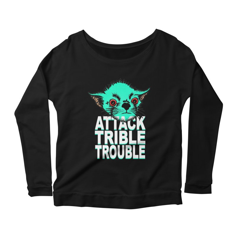 ATTACK TRIBLE TROUBLE Women's Scoop Neck Longsleeve T-Shirt by pesst's Artist Shop