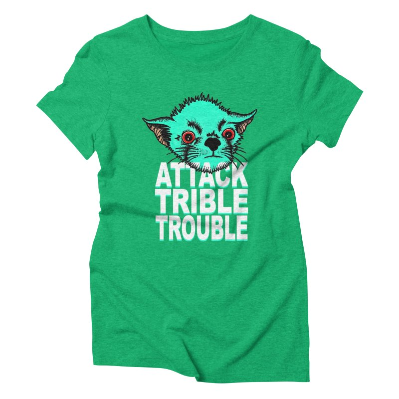 ATTACK TRIBLE TROUBLE Women's Triblend T-Shirt by pesst's Artist Shop
