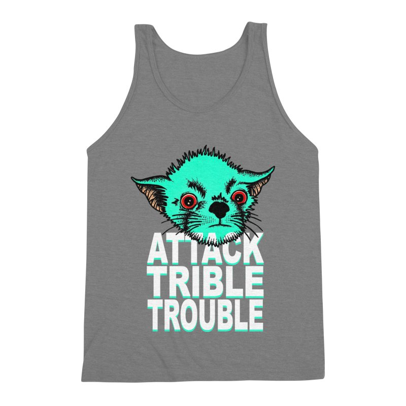 ATTACK TRIBLE TROUBLE Men's Triblend Tank by pesst's Artist Shop