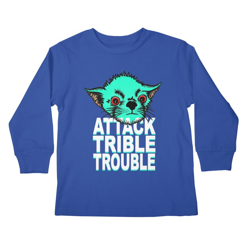 ATTACK TRIBLE TROUBLE Kids Longsleeve T-Shirt by pesst's Artist Shop