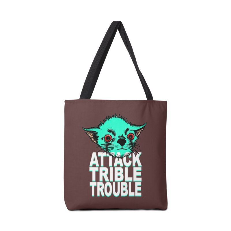 ATTACK TRIBLE TROUBLE Accessories Tote Bag Bag by pesst's Artist Shop