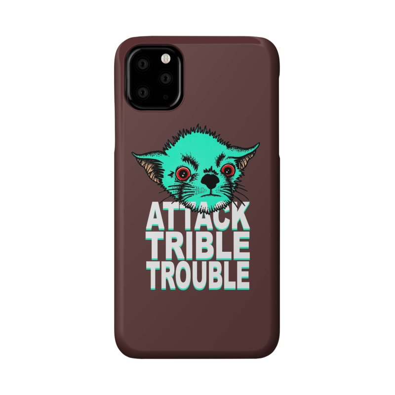 ATTACK TRIBLE TROUBLE Accessories Phone Case by pesst's Artist Shop