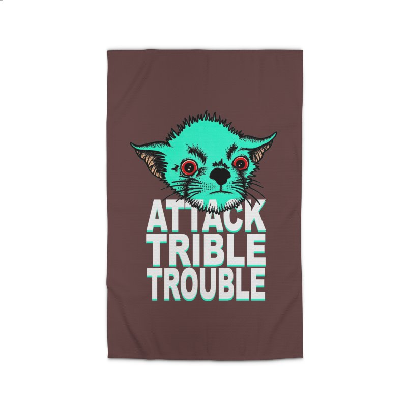 ATTACK TRIBLE TROUBLE Home Rug by pesst's Artist Shop