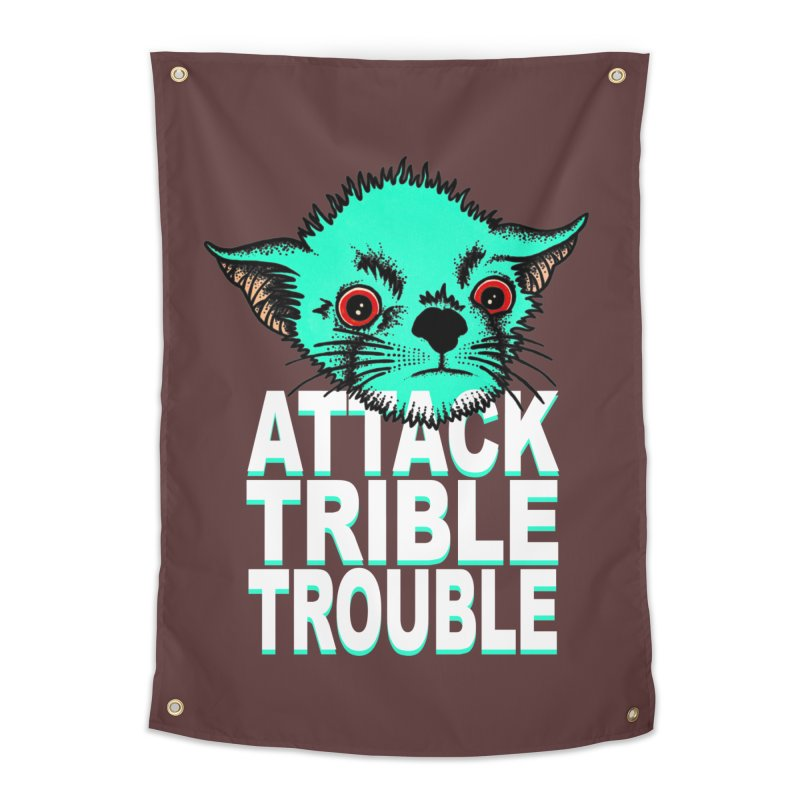 ATTACK TRIBLE TROUBLE Home Tapestry by pesst's Artist Shop