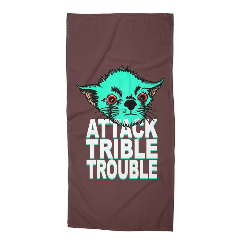 ATTACK TRIBLE TROUBLE Accessories Beach Towel by pesst's Artist Shop
