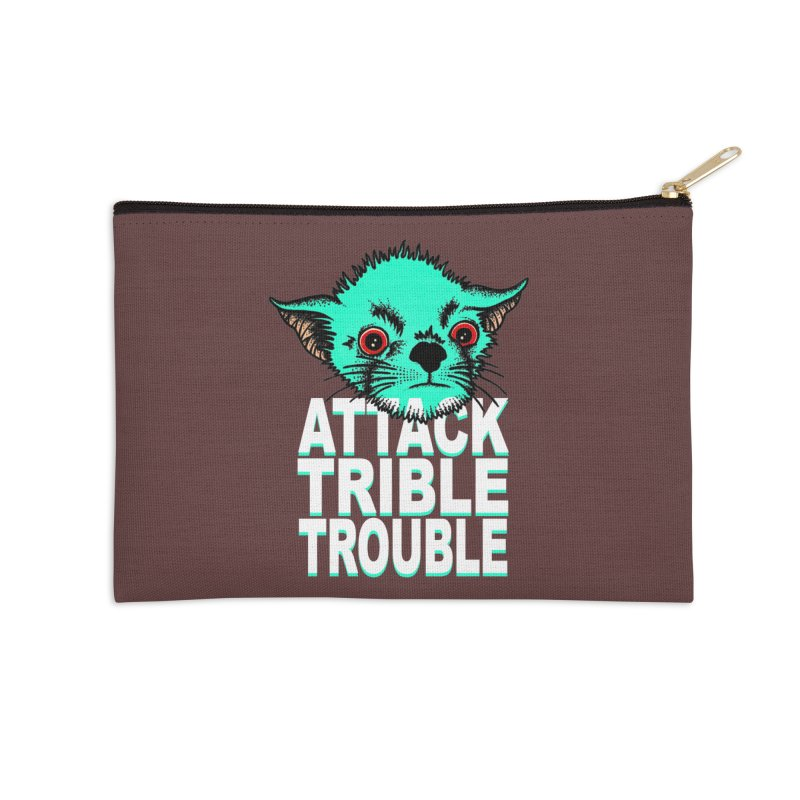 ATTACK TRIBLE TROUBLE Accessories Zip Pouch by pesst's Artist Shop