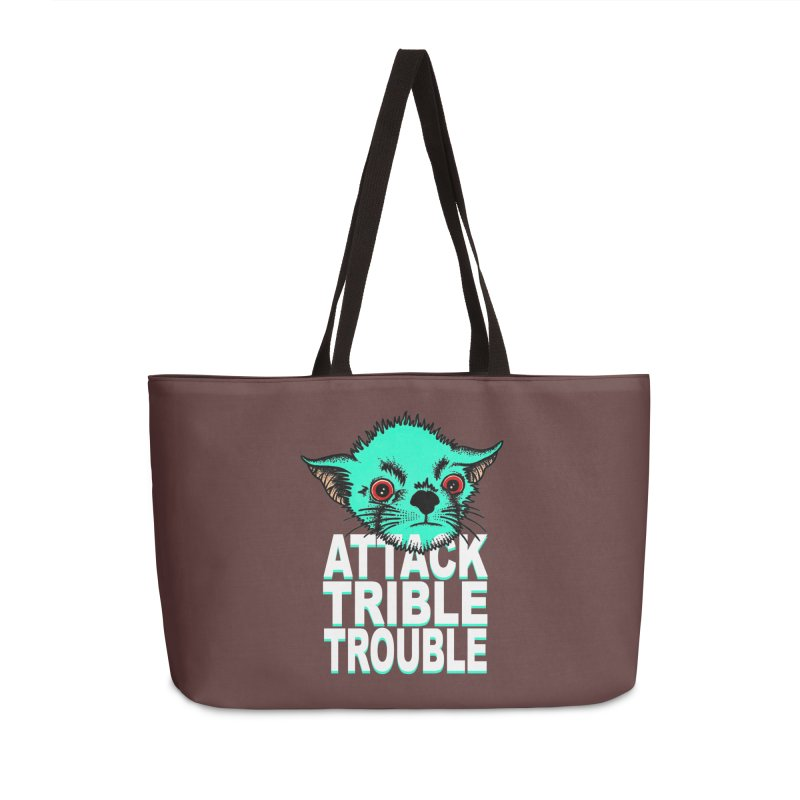 ATTACK TRIBLE TROUBLE Accessories Weekender Bag Bag by pesst's Artist Shop