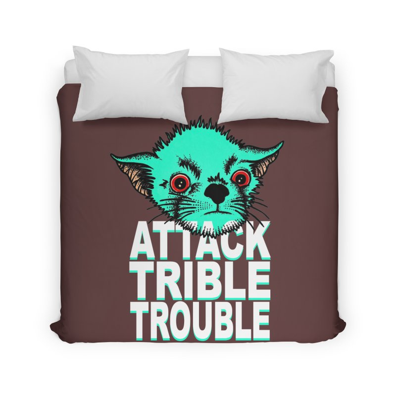 ATTACK TRIBLE TROUBLE Home Duvet by pesst's Artist Shop
