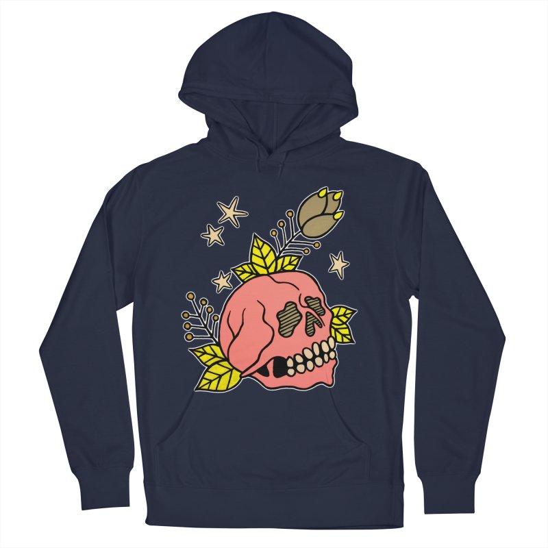 Pink Skull Men's Pullover Hoody by pesst's Artist Shop
