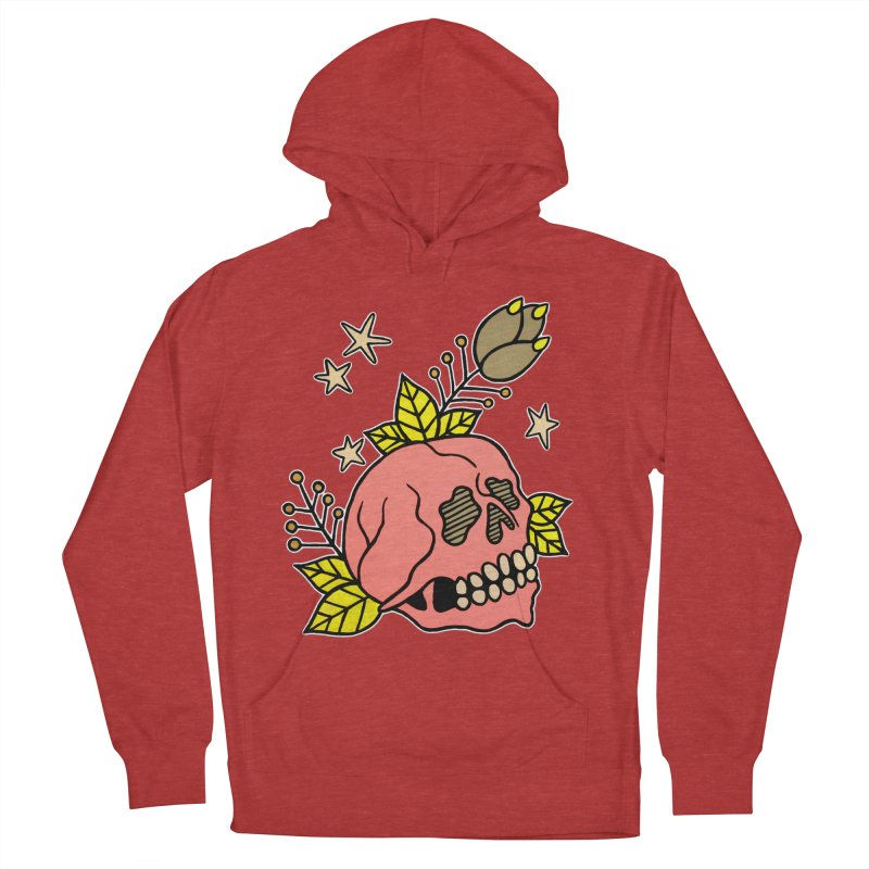 Pink Skull Women's French Terry Pullover Hoody by pesst's Artist Shop