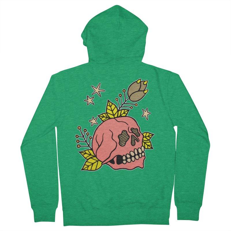 Pink Skull Women's Zip-Up Hoody by pesst's Artist Shop