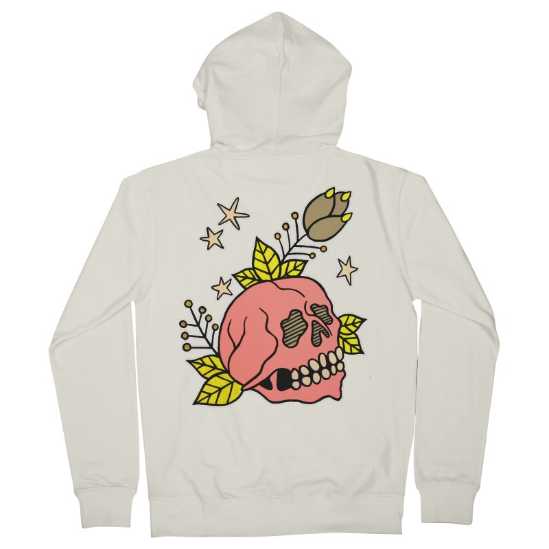 Pink Skull Women's French Terry Zip-Up Hoody by pesst's Artist Shop