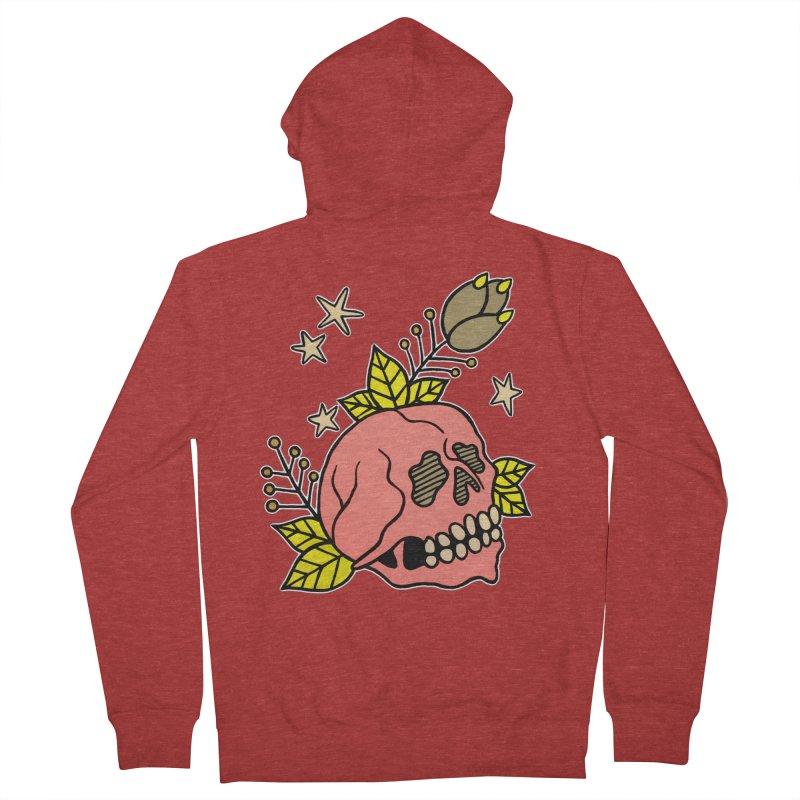 Pink Skull Men's Zip-Up Hoody by pesst's Artist Shop