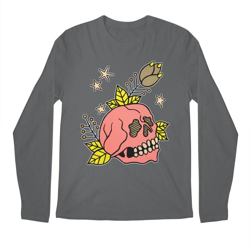 Pink Skull Men's Longsleeve T-Shirt by pesst's Artist Shop