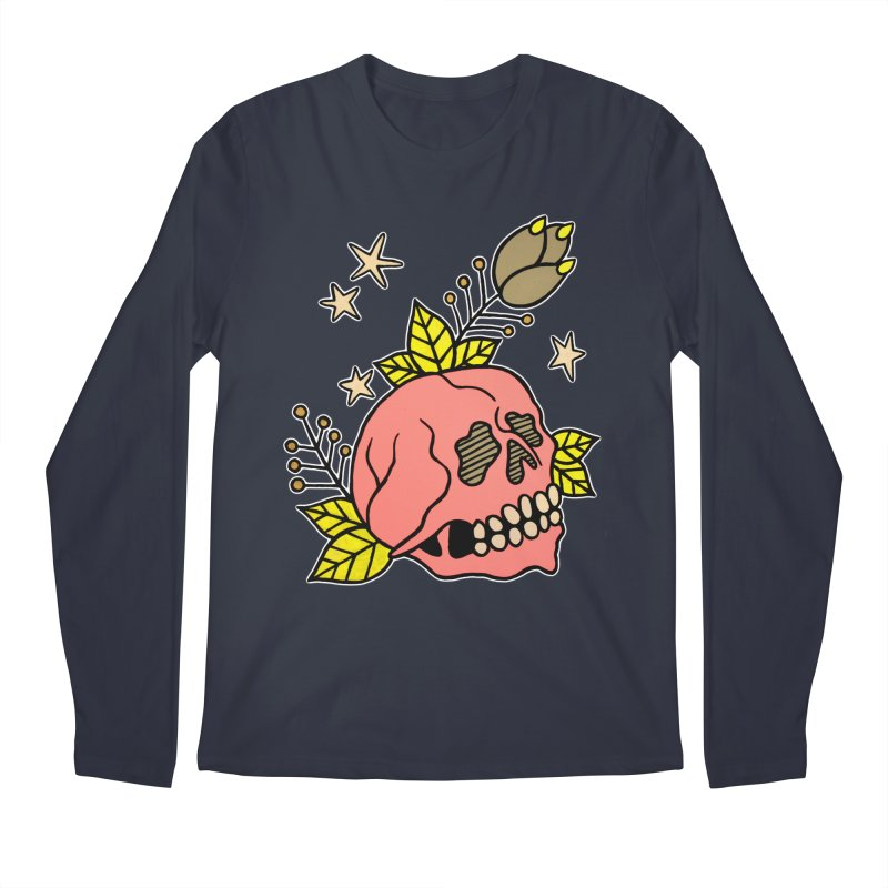 Pink Skull Men's Regular Longsleeve T-Shirt by pesst's Artist Shop