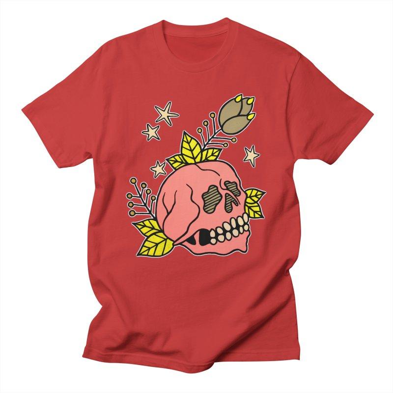 Pink Skull Men's Regular T-Shirt by pesst's Artist Shop