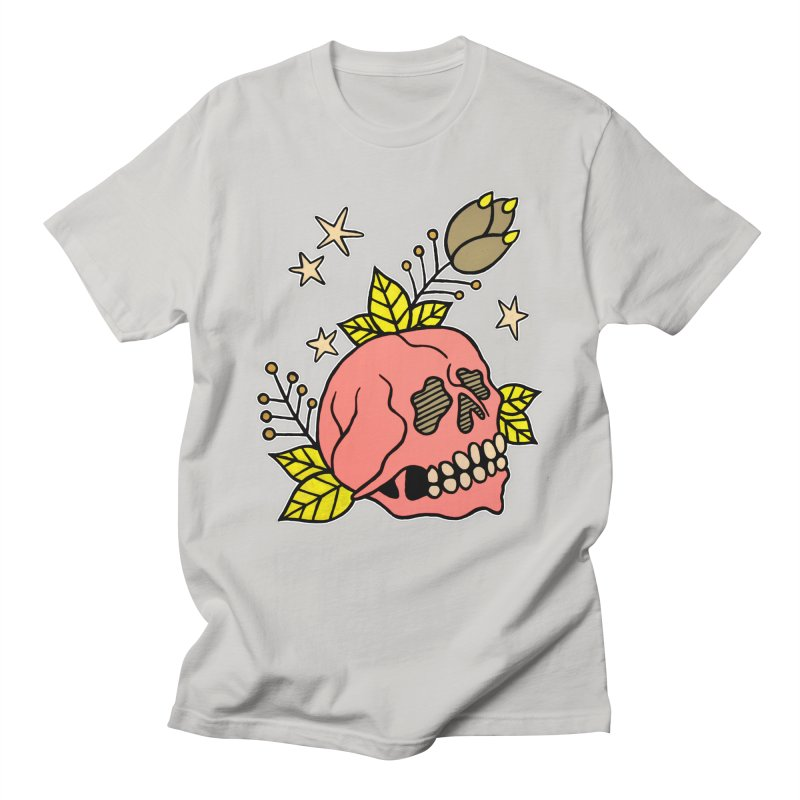 Pink Skull Men's T-Shirt by pesst's Artist Shop