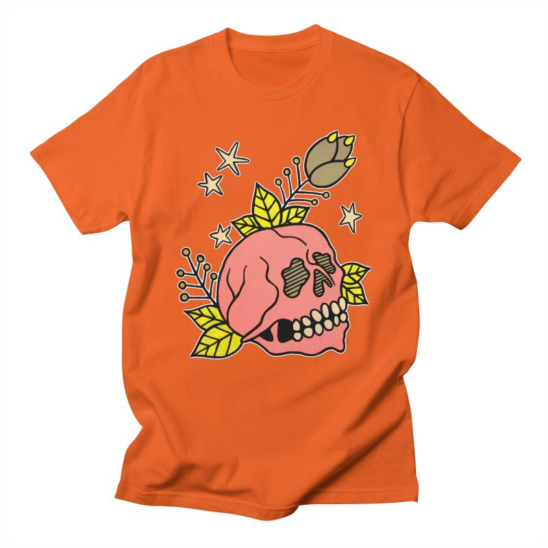 Pink Skull Women's Regular Unisex T-Shirt by pesst's Artist Shop
