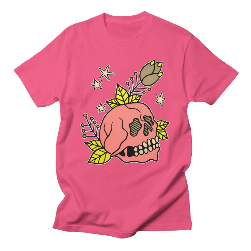 Pink Skull Women's Unisex T-Shirt by pesst's Artist Shop
