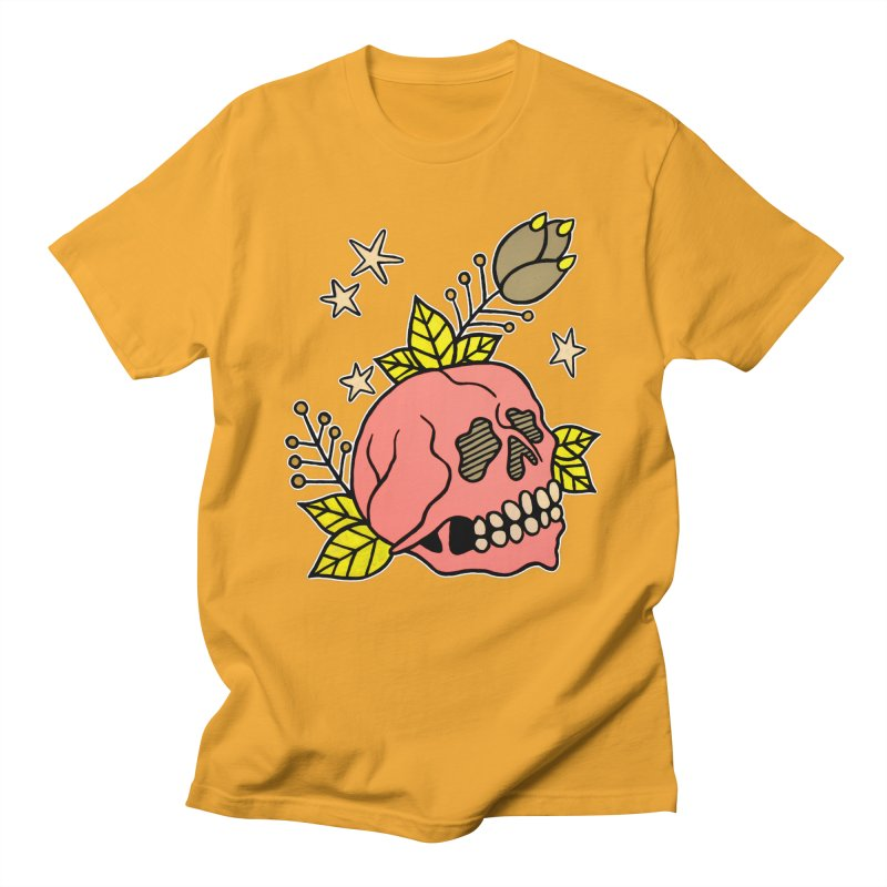 Pink Skull Women's Regular Unisex T-Shirt by pesst's Artist Shop