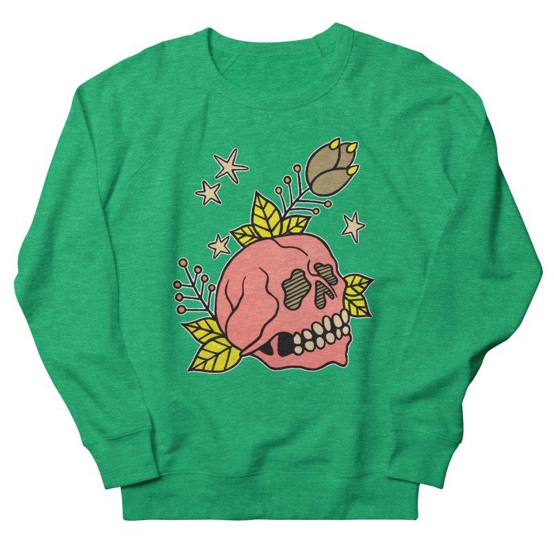 Pink Skull Women's French Terry Sweatshirt by pesst's Artist Shop