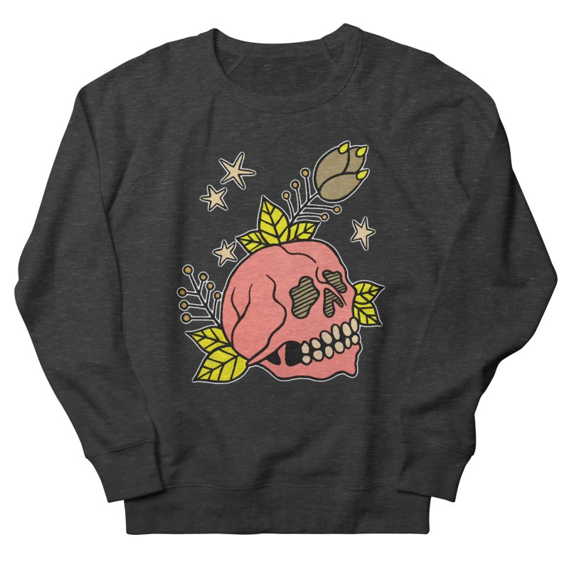 Pink Skull Women's French Terry Sweatshirt by pesst's Artist Shop