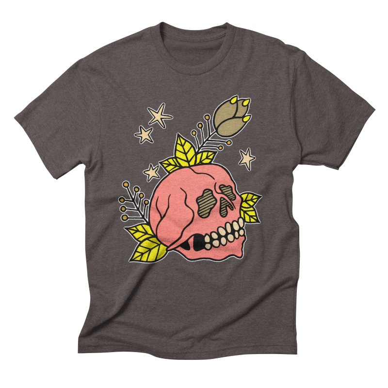 Pink Skull Men's Triblend T-Shirt by pesst's Artist Shop