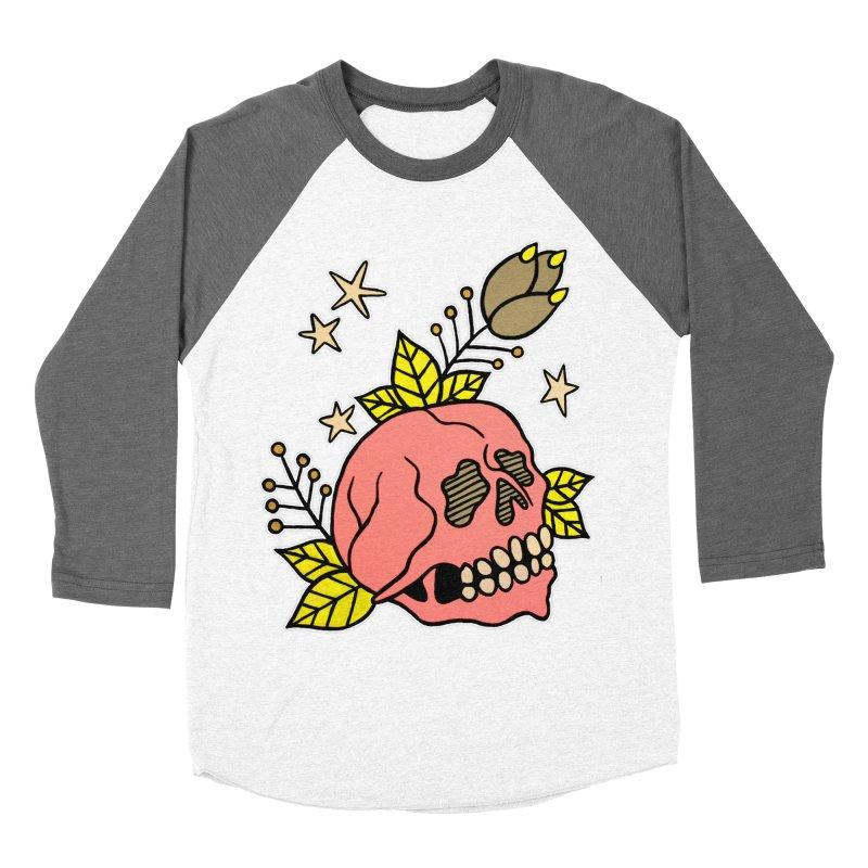 Pink Skull Women's Baseball Triblend Longsleeve T-Shirt by pesst's Artist Shop