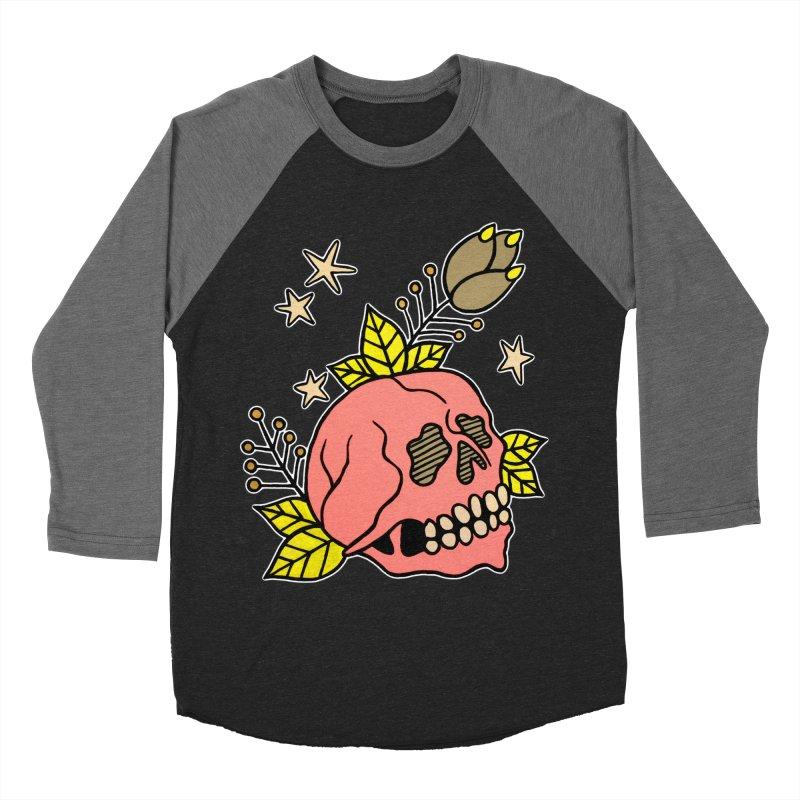 Pink Skull Women's Baseball Triblend T-Shirt by pesst's Artist Shop