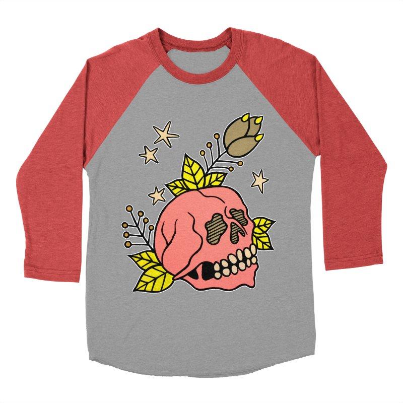 Pink Skull Men's Baseball Triblend Longsleeve T-Shirt by pesst's Artist Shop