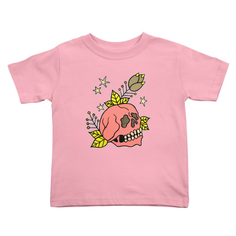Pink Skull Kids Toddler T-Shirt by pesst's Artist Shop