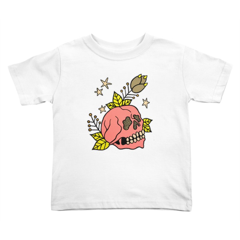 Pink Skull Kids Toddler T-Shirt by pesst's Artist Shop