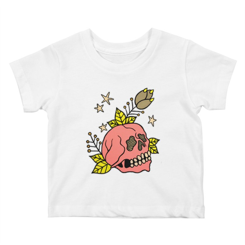 Pink Skull Kids Baby T-Shirt by pesst's Artist Shop