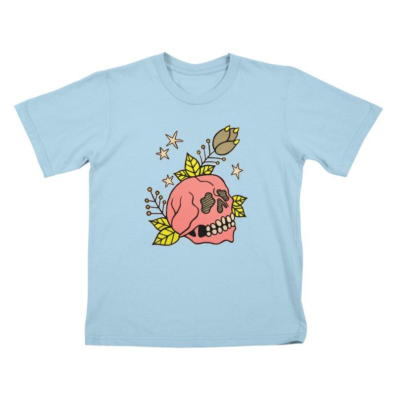 Pink Skull Kids T-Shirt by pesst's Artist Shop