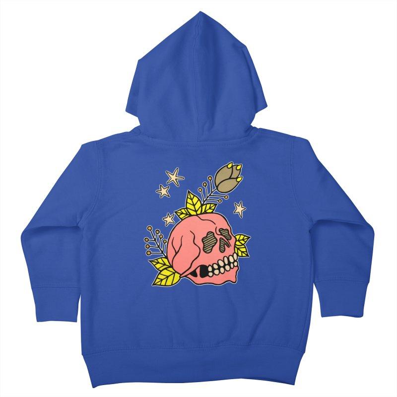 Pink Skull Kids Toddler Zip-Up Hoody by pesst's Artist Shop