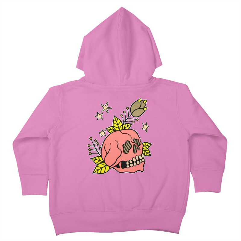 Pink Skull Kids Toddler Zip-Up Hoody by pesst's Artist Shop