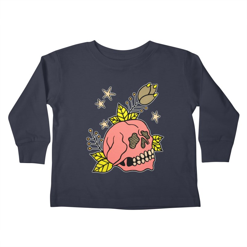 Pink Skull Kids Toddler Longsleeve T-Shirt by pesst's Artist Shop