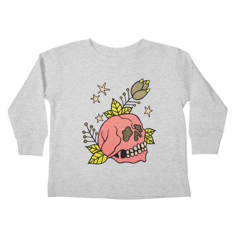 Pink Skull Kids Toddler Longsleeve T-Shirt by pesst's Artist Shop