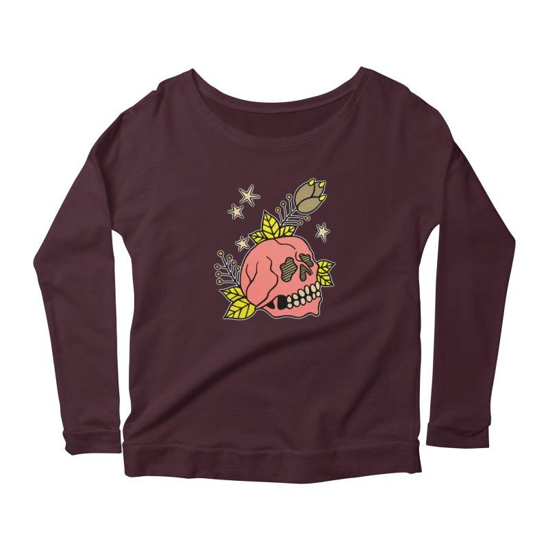 Pink Skull Women's Longsleeve T-Shirt by pesst's Artist Shop
