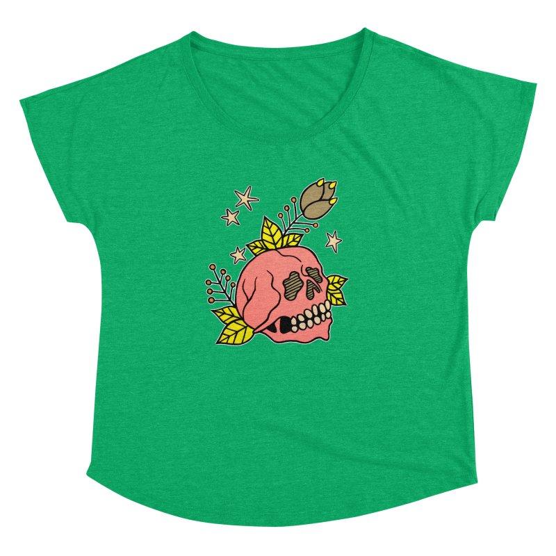 Pink Skull Women's Dolman Scoop Neck by pesst's Artist Shop
