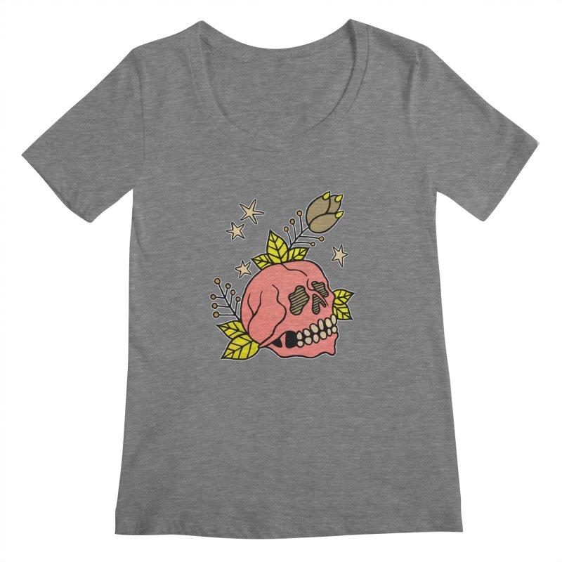 Pink Skull Women's Scoopneck by pesst's Artist Shop