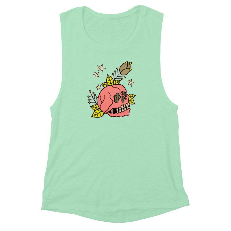 Pink Skull Women's Muscle Tank by pesst's Artist Shop