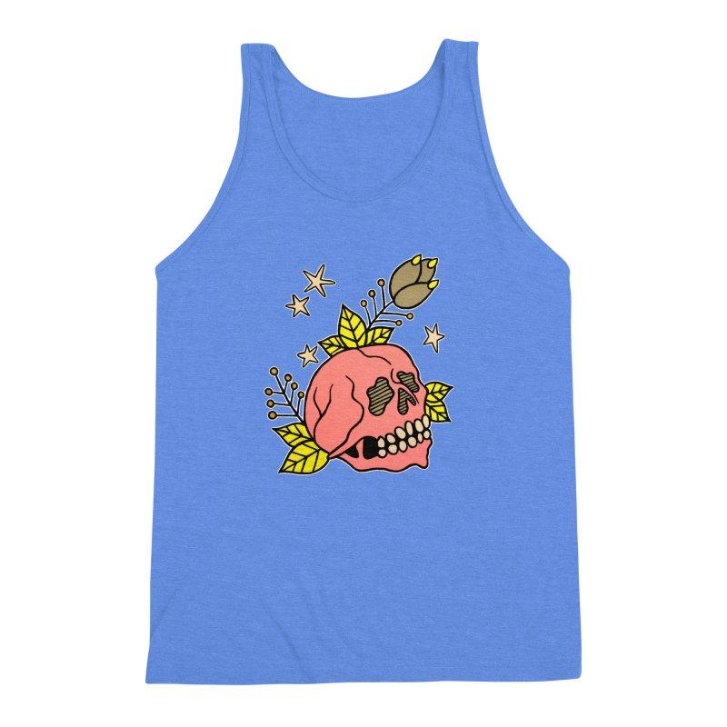 Pink Skull Men's Triblend Tank by pesst's Artist Shop
